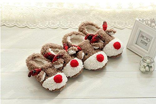 Chaussons Pantoufles Femmes Chaussures Cerf Forme Cadeaux WDIYHE29