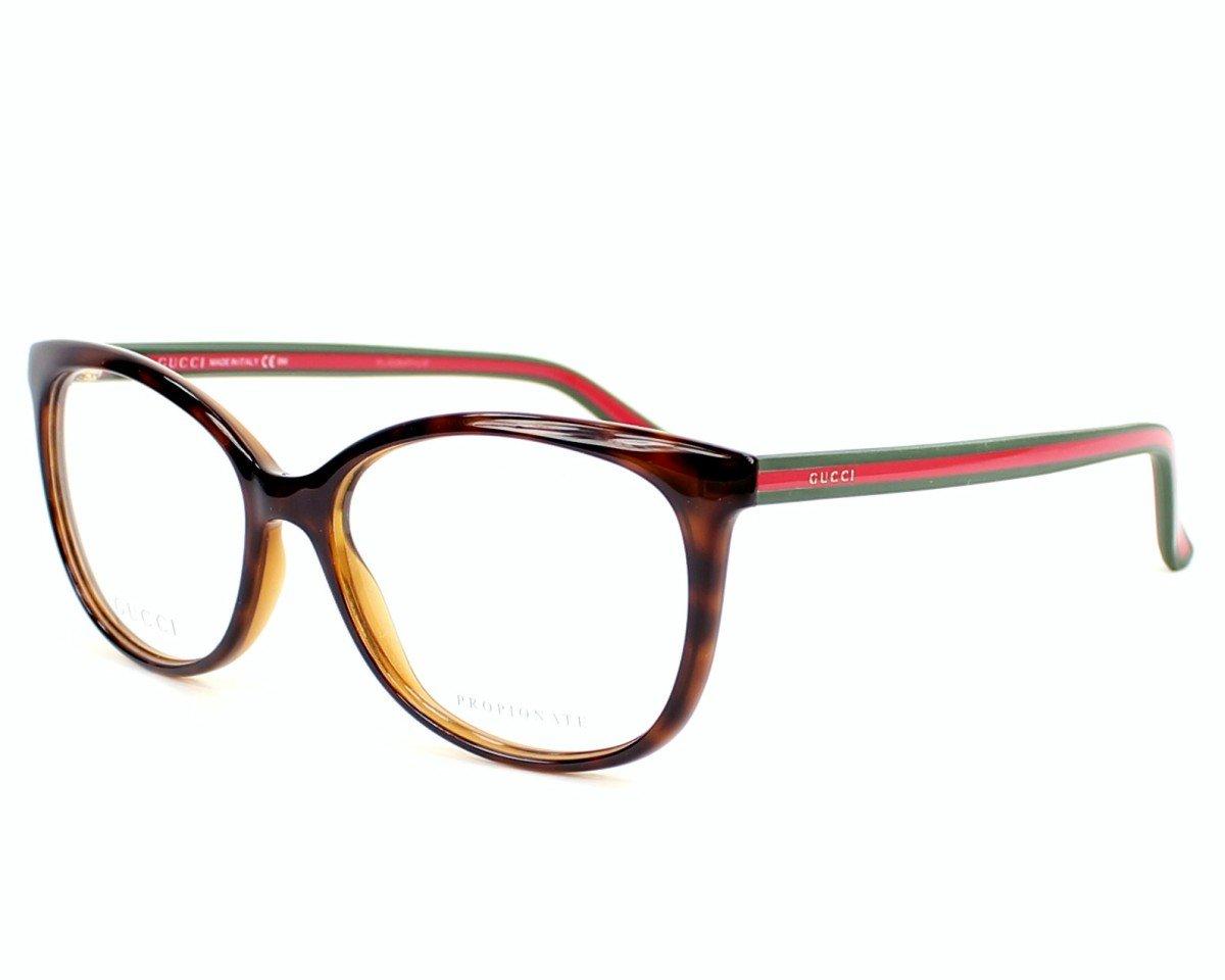 Gucci eyeglasses GG 3650 17L Acetate Havana - Green