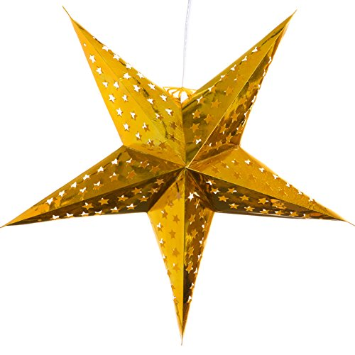 Hologram-Gold-Paper-Star-Lantern-with-12-Foot-Power-Cord-Included