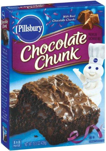 Chocolate Chunk Brownie - Pillsbury Chocolate Chunk Brownie Mix, 15.5-Ounce Boxes (Pack of 12)