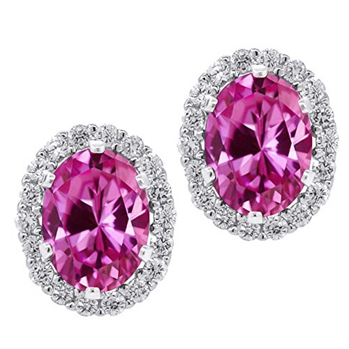 3.82 Ct Oval Pink Created Sapphire Sterl - New Pink Sapphire Shopping Results