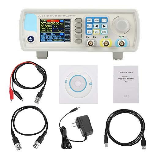 デュアルチャンネル信号発生器、JDS6600 DDS信号発生器カウンタデジタル制御正弦周波数AC100-240V(US-30HZ)