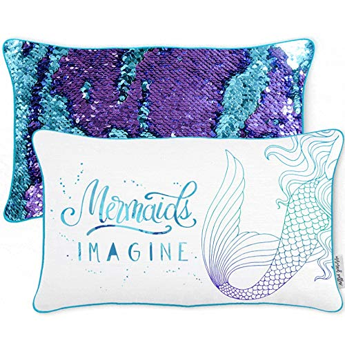 Mermaid Pillow w/Reversible Sequins (Includes Cover + Pillow Insert)
