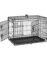 AmazonBasics Single-Door & Double-Door Folding Metal Dog Crate