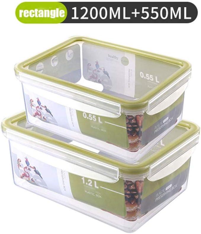 Wmy max Almacenamiento de Alimentos Contenedor de Almacenamiento de Alimentos para niños Merienda Fruta Sellado Refrigerador Caja de Almacenamiento Combinación de tazón Fresco Fiambrera (Color : B): Amazon.es: Hogar