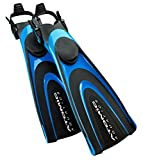 Atomic Aquatics Blade Fin for Scuba Diving and Snorkeling Fin, Small, Blue