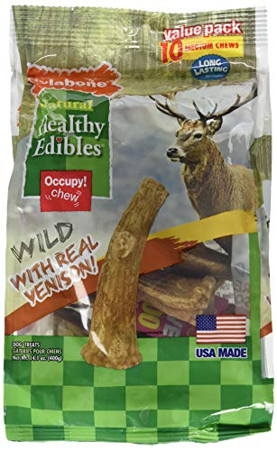 Nylabone Healthy Edibles Edible Antler Real Venison 10pk