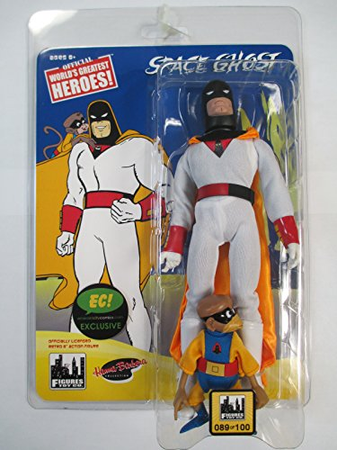 Space Ghost & Blip 8 Inch Retro Figure Set of 2 (Classic Hanna-Barbera Figures) - Emerald City Comics and Tampa Bay Comic Con 2017 Exclusive Set of 2 individually numbered (Space Ghost Costume)