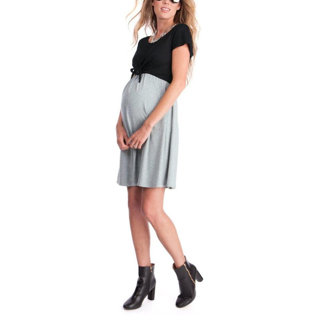 Keepwin Ropa Embarazadas Vestido Premama Lactancia Vestido De Lactancia Femenino: Amazon.es: Ropa y accesorios