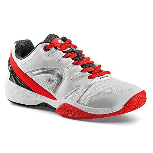 Head NZZZO Junior, Zapatillas de Tenis Unisex Niños Blanco (White/red)