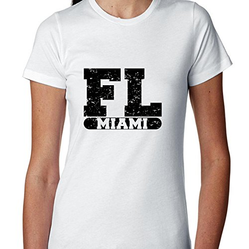 Hollywood Thread Miami, Florida FL Classic City State Sign Women's Cotton T-Shirt