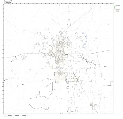 Roswell Nm Zip Code Map.Amazon Com Roswell Nm Zip Code Map Laminated Home Kitchen