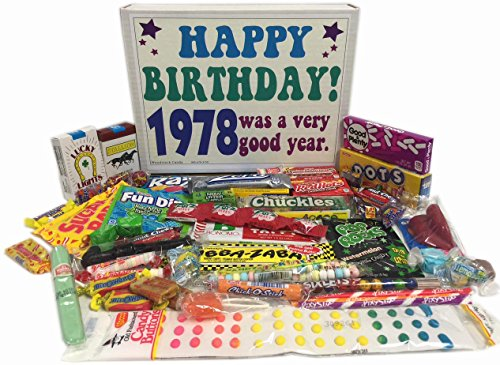 Woodstock Candy 1978 40th Birthday Gift Box  Retro Nostalgic Candy Assortment for 40 Year Old Man or Woman  Relive Your Childhood