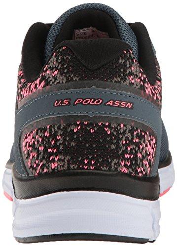 Nous Polo Assn. Sneaker Femme Raven-ek Femme Ardoise Gris / Corail / Noir