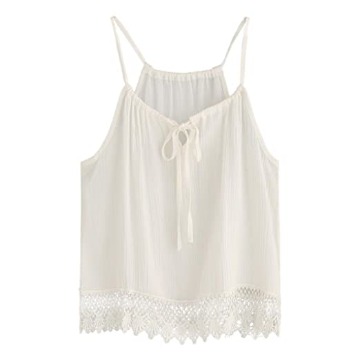 28bd491c482 Perman Women s Summer Short Sleeve Blouse Lace Tank Tops Tee T-Shirt ...