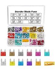 Haobase 140pcs Mini Car Fuse Fuse Assorted Fuse for Auto Truck with Storage Case (2A, 3A, 5A, 7.5A, 10A, 15A, 20A, 25A, 30A, 35A, 40A)