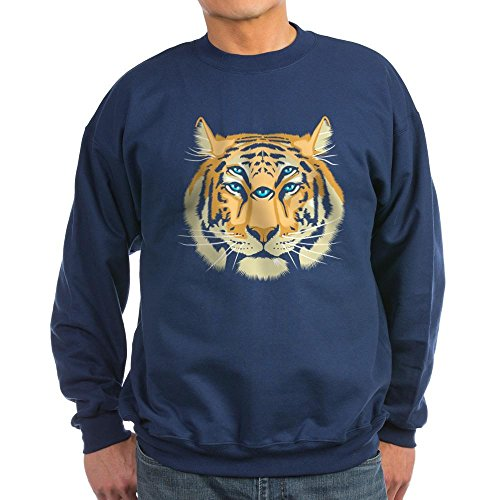 CafePress - Tiger Spirit Guide Jumper Sweater - Classic Crew Neck Sweatshirt (Sweatshirt Tiger Classic)
