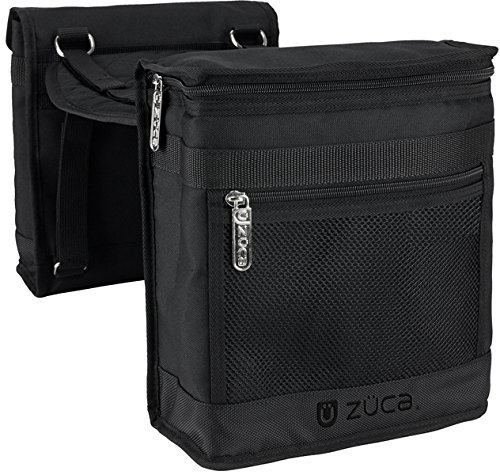 Zuca Beauty Caddy Pouches w/Seat Cushion (Black)