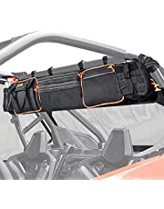 UTV Large Roll Cage Organizer, Sresk Roll Cage Cargo Rear Storage Bag Gear Bags First Aid Pouch with Reflective Strip For Most Full Size UTVs