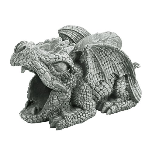 Design Toscano Darian the Dragon Gutter Guardian Downspout Statue Down Statue