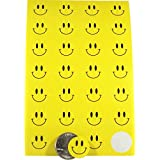 Yellow Smiley Face Dot Circle Stickers 3/4 Inch Round Labels 10 Sheets of 28 Stickers 280 Total