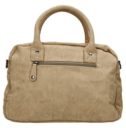 66045 Handbag Leather Faux Benetti Grab Enrico Taupe Jura x5IqYwxv