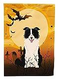 Caroline's Treasures BB4384GF Halloween Border Collie Black White Garden Size Flag, Small, Multicolor