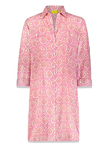 Roller Rabbit Pink Medallion Shirt Dress