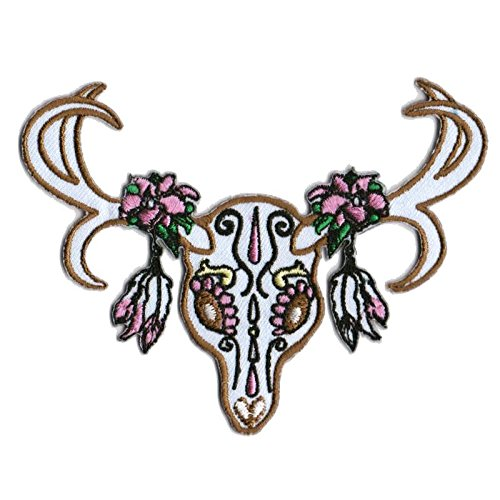 Deer Patches Sugar Skull Patch Cool Iron On Patches Funny Patches For Jackets