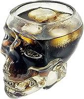 Home Accessories - Vaso de Cristal Transparente con Diseño de Calavera para Vodka Whisky