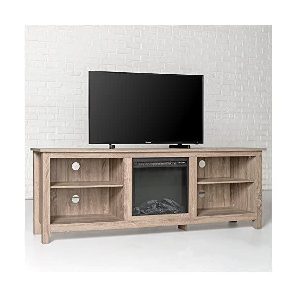 Tucker 70 Inch Fireplace Television Stand in Driftwood