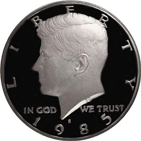 1985 P John Kennedy Half Dollar With 2x2 Case from Mint Set Combined Shipping