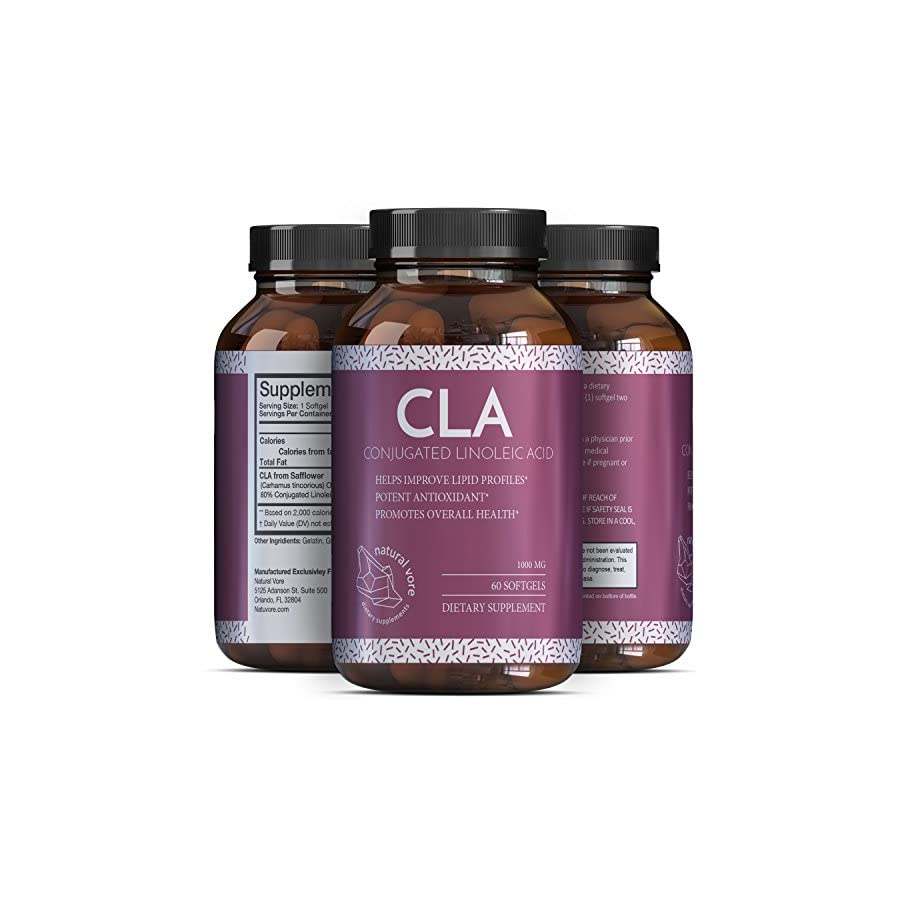 Pure CLA Weight Loss Supplement Safflower Oil Natural Diet Pills for Men & Women Boost Metabolism Belly Fat Burner Best 1000 mg CLA Capsules Conjugated Linoleic Acid Complex by Griffith Natural