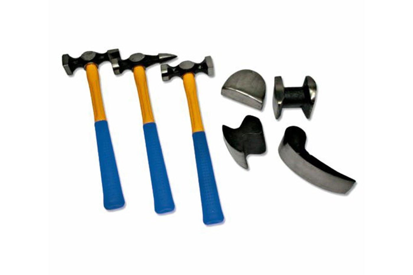 7 piezas Malet/ín de herramientas para reparaci/ón de carrocer/ía con martillos y tases