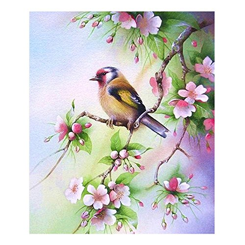 Whitelotous 5D Branch Bird Diamond Painting Embroidery DIY C
