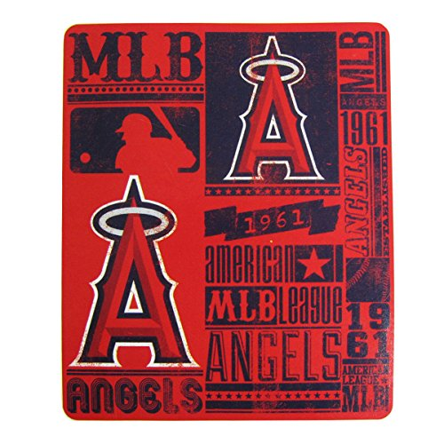 The Northwest Company MLB Los Angeles Angels Fleece Throw Blanket 50 inch by 60 inch
