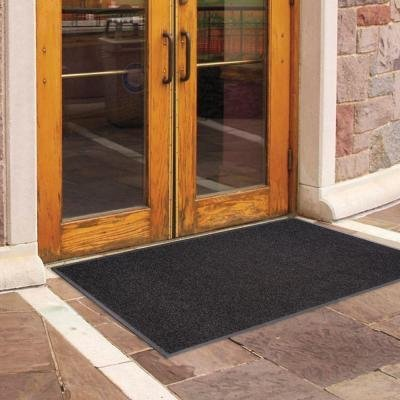 (Enviroback Charcoal 60 in. x 36 in. Recycled Rubber/Thermoplastic Rib Door Mat)