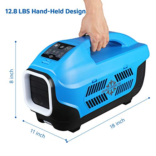 Zero Breeze Z19 Portable Air Conditioner for Camping, Real Mini AC  Compressor, USB Charging Station and Bluetooth, Ideal for Outdoor  Activities, Tent,