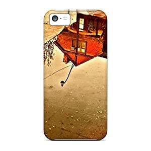 Zheng caseHigh Grade Cynthaskey Flexible Tpu Case For Iphone 5c - City Reflected