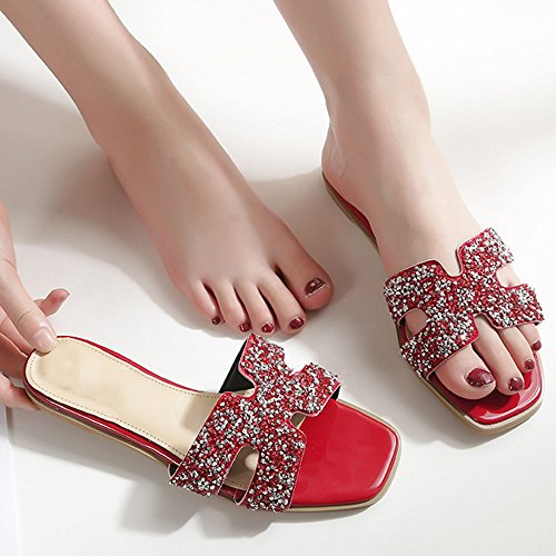 Palabra Playa H Zapatillas Planos Tipo D Verano Femenino Con De Diamante Zapatos Planas Ajzgf avFxqPwa