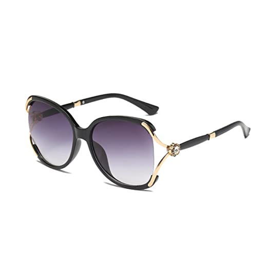 9bc4ce9f625 Livhò Oversized Women s Sunglasses Plastic Frame with Carving Flower  Rhinestones - UV Protection