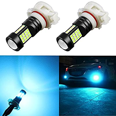 Alla Lighting 2000 Lumens 5202 5201 PS19W 12085 LED Bulb High Power 3030 36-SMD Super Bright 8000K Ice Blue LEDs for Fog Light Bulbs Lamp Replacement