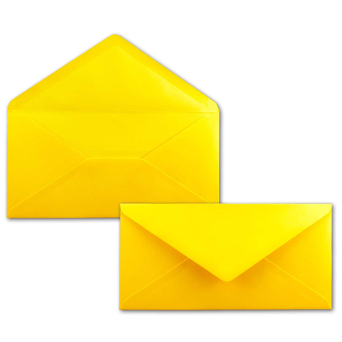 250 Brief-Umschläge Bronze Metallic DIN Lang - 110 x 220 mm (11 x 22 cm) - Nassklebung ohne Fenster - Ideal für Einladungs-Karten - Serie FarbenFroh® B077JYB9T3 | Verschiedene Stile und Stile