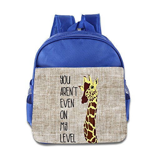 You Arent Even On My Level Children Kids Small Toddler Backpack For Boy Girl Royalblue