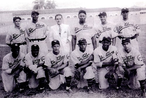 Santa Clara 1941 Cuban Winter League Team 8x10 Photo - Very Rare - Mint - Store Clara Santa