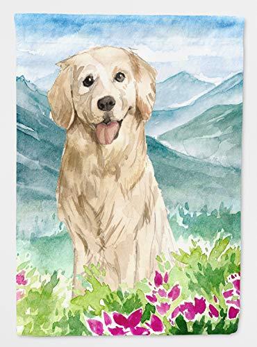 (Caroline's Treasures CK2536CHF Mountain Flowers Golden Retriever Flag Canvas House Size, Large, Multicolor)