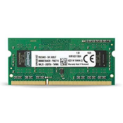 Kingston ValueRAM 4GB 1600MHz PC3-12800 DDR3 Non-ECC CL11 SODIMM SR x8 Notebook Memory (KVR16S11S8/4) by Kingston Technology