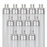 Sunlite F28T5/835/12PK T5 High Performance Mini Bi-Pin (G5) Base Straight Tube Light Bulb (12 Pack), 28W/3500K, Neutral White