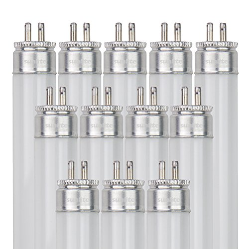Sunlite F14T5/841/12PK T5 High Performance Mini Bi-Pin (G5) Base Straight Tube Light Bulb (12 Pack), 14W/4100K, Cool White ()