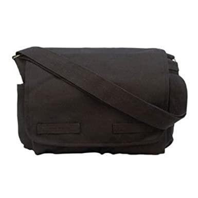 91766ffd010a Image Unavailable. Image not available for. Color  Black Classic Canvas  Messenger Bag